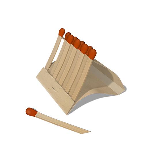 Matches Render 2 Flat